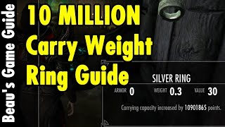 10 MILLION Carry Weight Ring - Skyrim Special Edition - xBeau Gaming