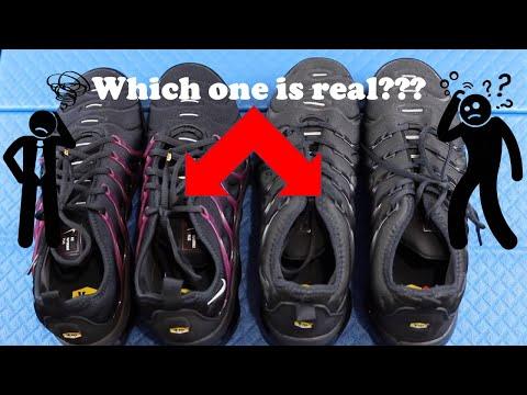HOW TO SPOT FAKE NIKE AIR TUNED TNS | Fake VS Real - YouTube