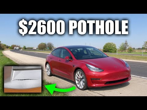 Hitting A Pothole In A Tesla Cost $2600