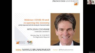 John Cochrane on COVID 19 and re-opening the economy
