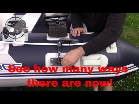 Many ways to mount your sonar on an inflatable boat