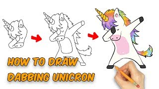 Super Easy Way-- How to draw Cute Unicorn for kids easy step by ste...