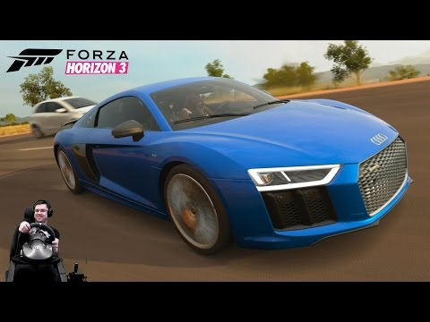 Супер стильная Audi R8 2016 - Forza Horizon 3