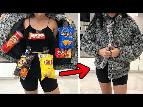 HOW TO SNEAK SNACKS Into The Movie Theater Ft Sssniperwolf