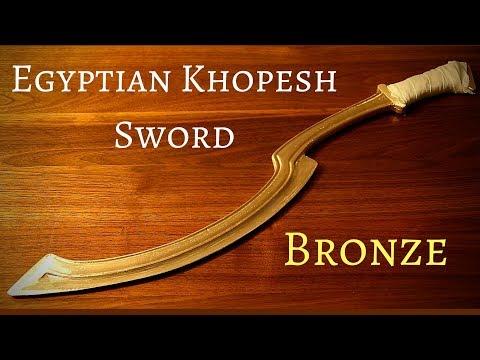 Making an Egyptian Bronze age Khopesh Sword (King Tut's Sword)