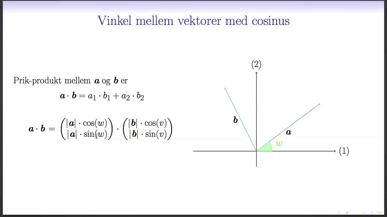 Vektorer L3 - Vinkel mellem vektorer
