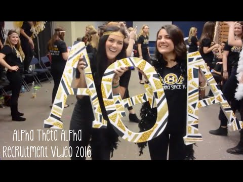 Alpha Theta Alpha Recruitment Video 2016
