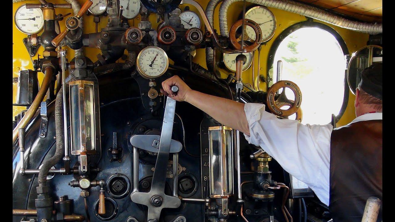 Steam on the Oberalp Pass - Part 3 - watch the driver & fireman at work
