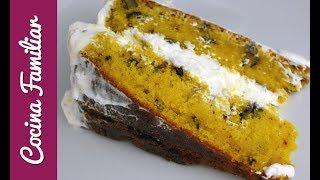Tarta de zanahoria con crema de queso | Recetas de Javier Romero