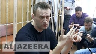 Russian opposition leader Alexei Navalny fined and jailed