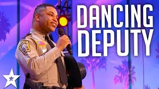 Sheriff's Deputy Deuntay Diggs Performs on America's Got Talent 2017