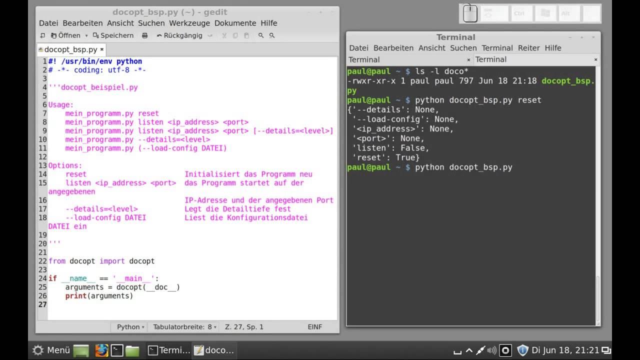 Python3 docopt