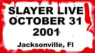 SLAYER  live 10/31/2001 jacksonville, fl AUDIO minidisc halloween