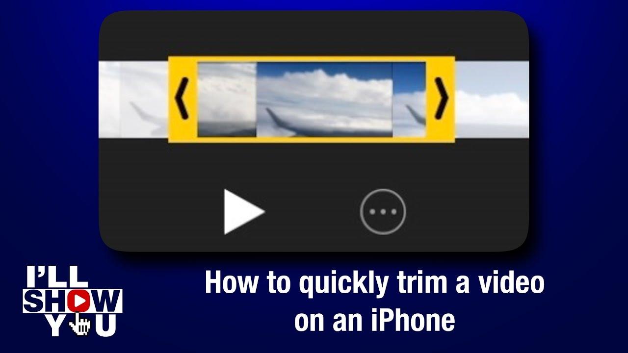 How do I trim a video