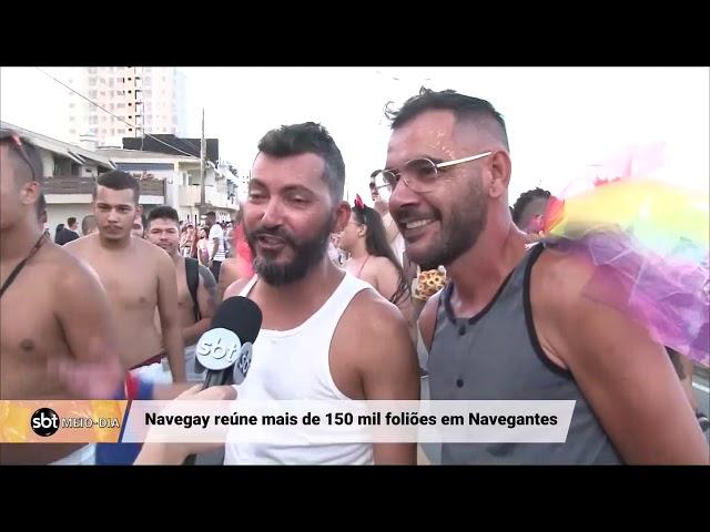 O bloco Navegay reúne mais de 150 mil foliões em Navegantes