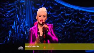 Christina Aguilera Beautiful Hurricane Sandy Coming Together