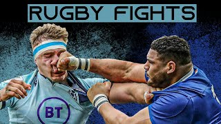 When Rugby Players Throw Punches | Rugby Fights
