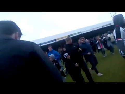 MASSIVE PITCH INVASION Grimsby Town 2-1 Notts County INSANE!!!!