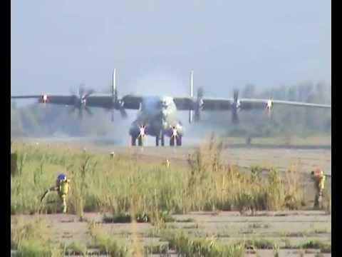 Ан-22. Визуальный заход на посадку.
