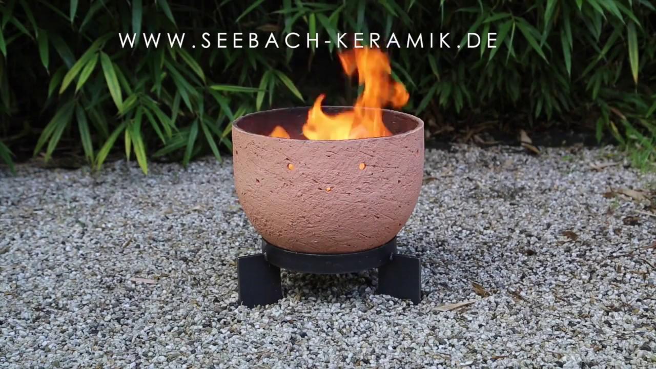keramik feuerschale seebach keramik youtube. Black Bedroom Furniture Sets. Home Design Ideas