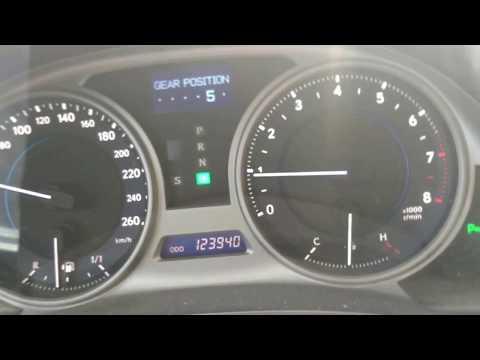 Движение Лексуса IS 250 в городском цикле, скорость, переключение передач, lexus is 250