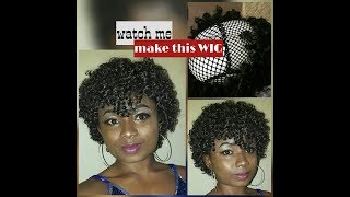 D.I.Y: How to make Natural Afro Kinky curly WIGXpression braidEasy TutorialReena Ada