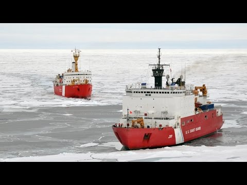 Here's How Massive Icebreaker Ships Plow Through Frozen Seas