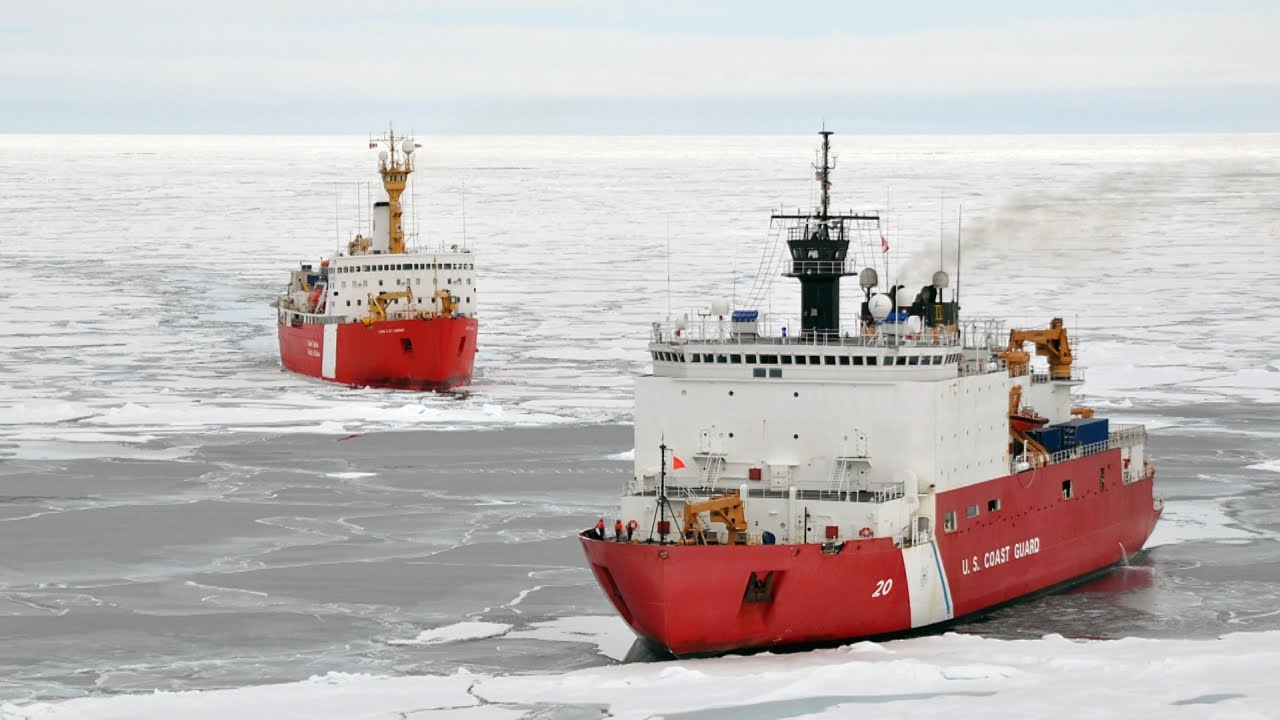 ce69ad53fb Here's How Massive Icebreaker Ships Plow Through Frozen Seas - YouTube