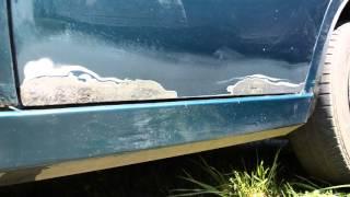 Убираем ржавчину на дверях авто как убрать ржавчину body repair(ремонт дверей авто. удаление ржавчины. Шлифовка. Грунтовка., 2016-04-28T16:33:12.000Z)