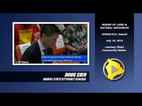 Doug Chin makes his case to BLNR on June 10, 2015