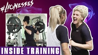 Rondos, Shooting Practice & Top-Drawer Saves | Lionesses Train Hard in Qatar! | Inside Training