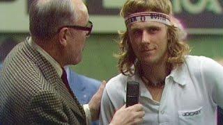 Björn Borg vs Jiří Hřebec Davis Cup Final 1975 Rubber 1 (extended highlights)