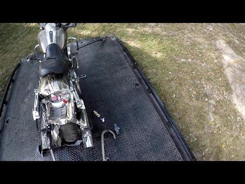 Harley Glider Turned Bobber......... BY ACCIDENT