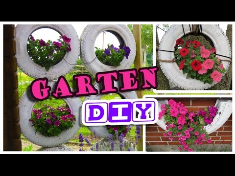diy blumen autoreifen sichtschutz tolle garten idee youtube. Black Bedroom Furniture Sets. Home Design Ideas