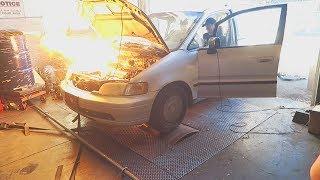 Nitrous Minivan Explodes!