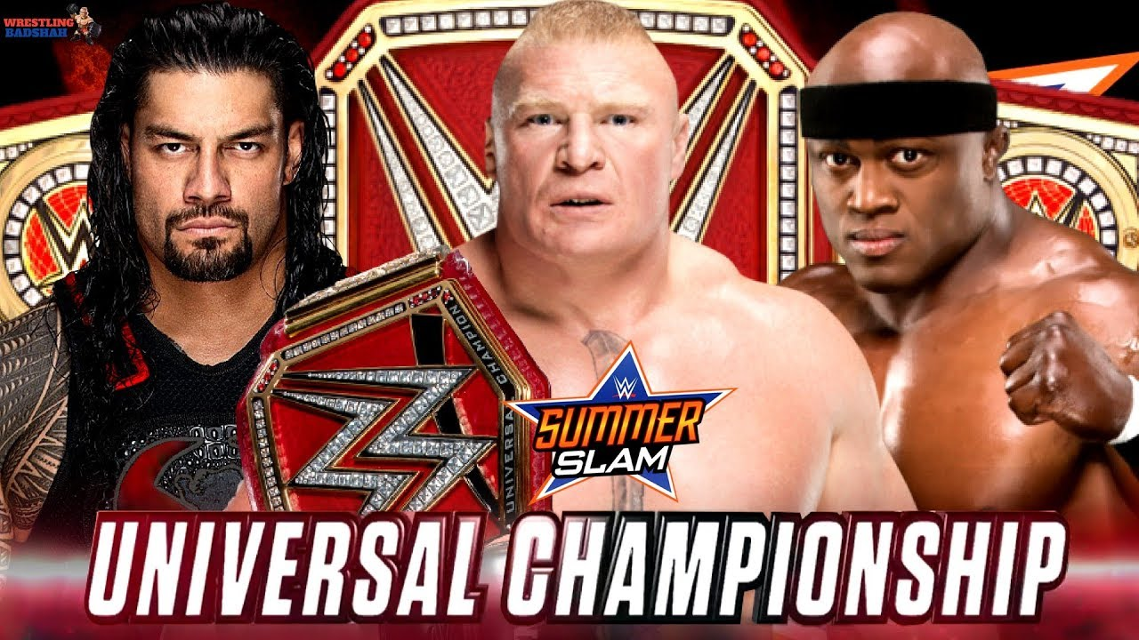 Image result for Brock Lesnar (c) vs. Roman Reigns live stream Summerslam 2018,