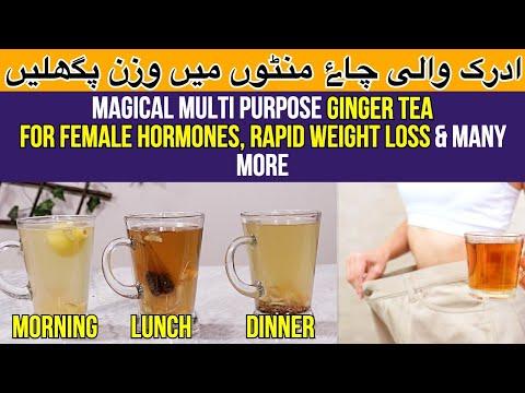 fat-burner-ginger-tea- -female-hormones-imbalance,-weight-loss-&-many-more-in-urdu-/-hindi