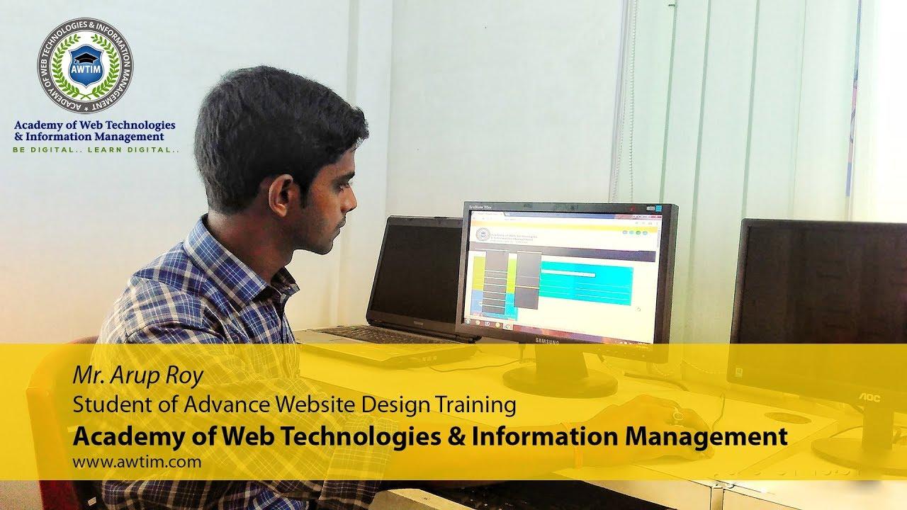 Website Design Training Institute In Kolkata Testimonial Arup Roy Awtim Youtube