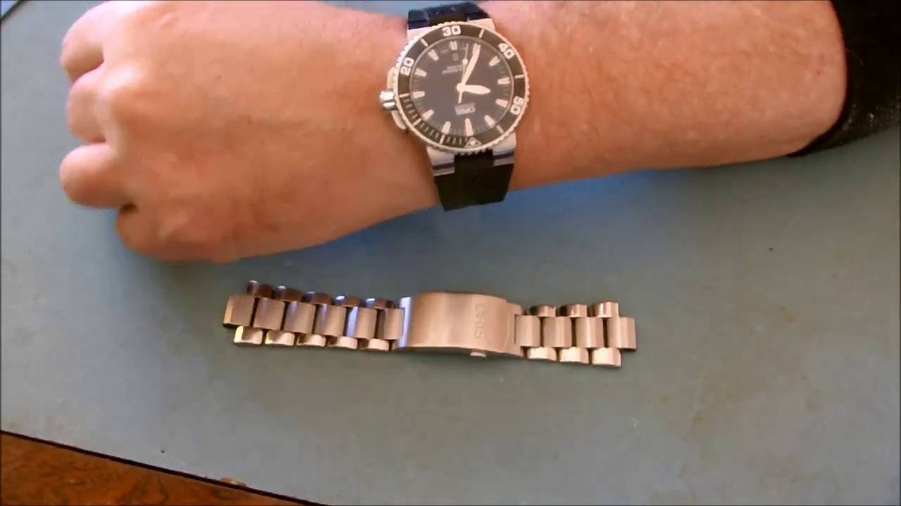 oris rubber strap review youtube