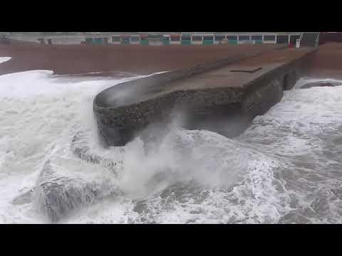 the end of storm caroline in brighton uk