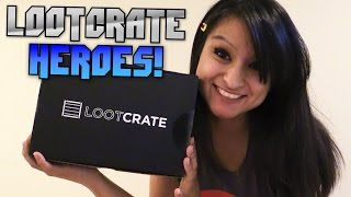 Loot Crate Unboxing - Heroes! [august 2014]