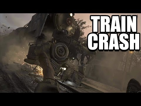 CALL OF DUTY WW2 - Armored Train Chase / Crash Scene