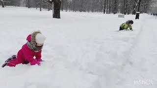 Кто быстрее? Развлечения зимой