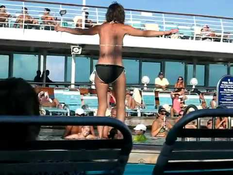 Drunk Girl Busting Moves On The Cruise Ship YouTube - Lady overboard on cruise ship