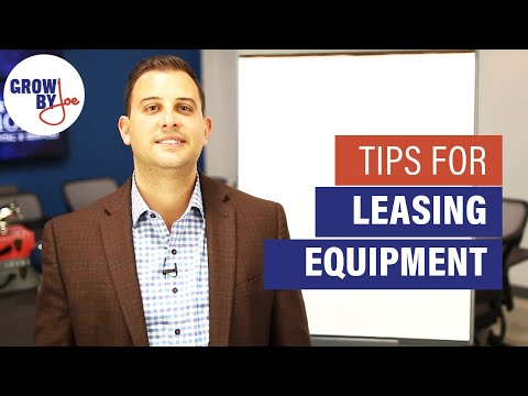 How Does Equipment Leasing Work?