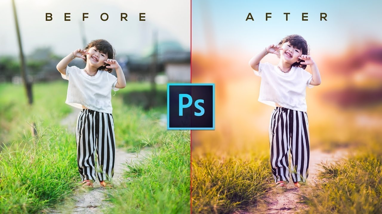 Photoshop Tutorial How to Edit Outdoor Portrait (Child) in ...