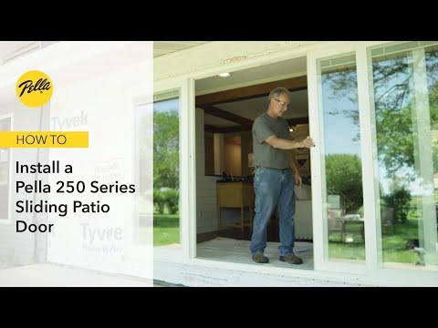 how to install a multi slide patio door