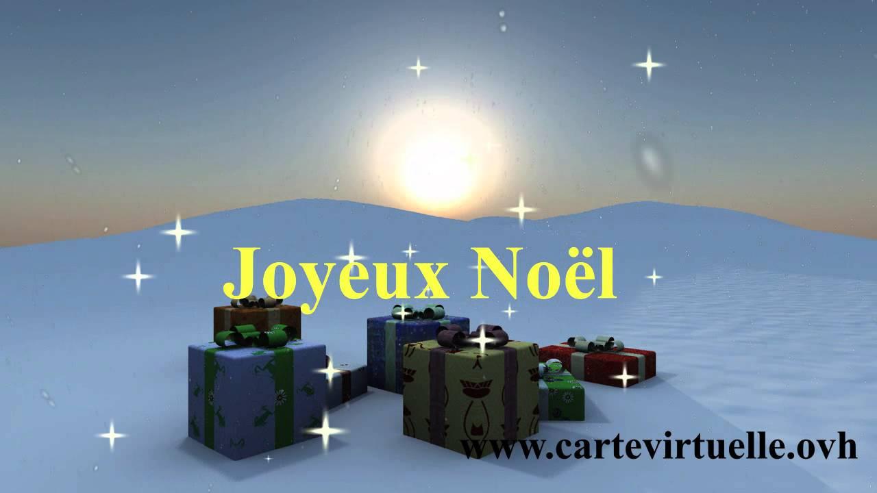 JOYEUX NOEL - CARTE VIRTUELLE VIDEO ANIMEE GRATUITE - YouTube