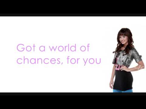 Demi Lovato - World of Chances (Lyrics on Screen) HQ