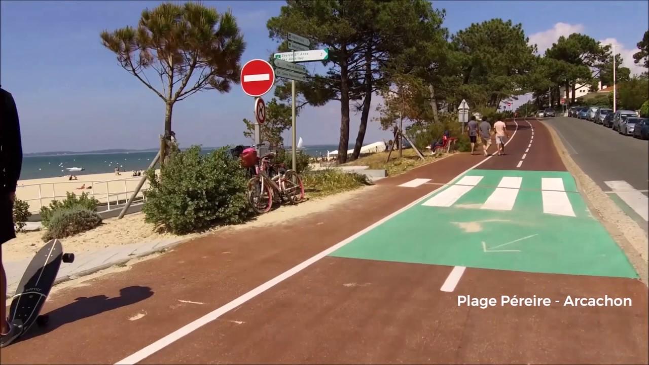 La Piste Cyclable De La Plage Pereire A Arcachon En Gironde